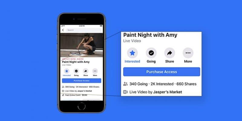 Facebook ahora le permite cobrar la entrada a eventos de transmisión en vivo 1