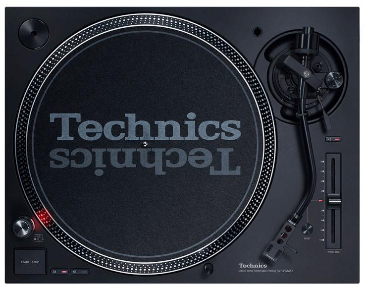 Technics SL1210 MK7 Vista superior