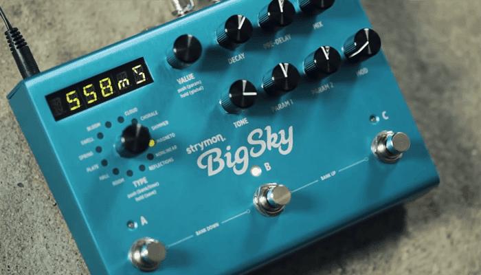 Reverberación multidimensional Strymon BigSky 5