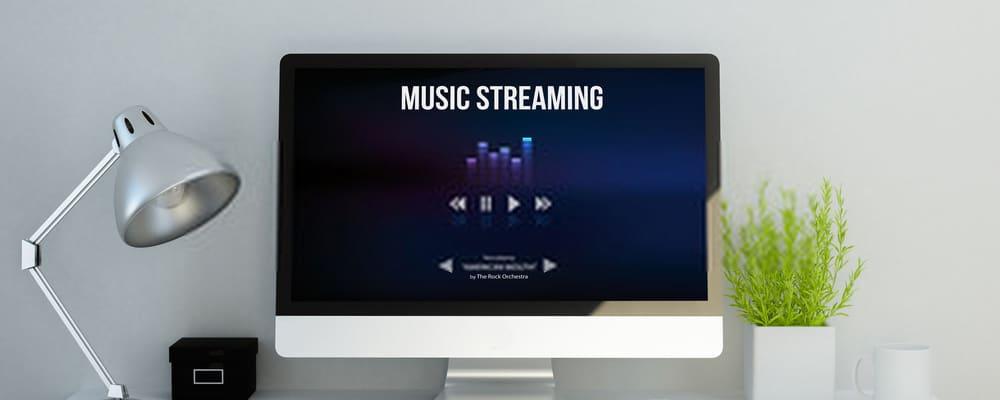 Sitio de transmisión de música