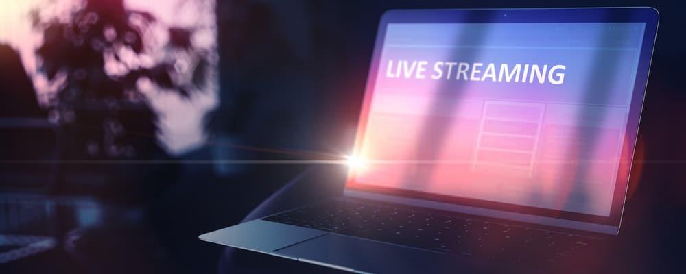Transmisión en vivo a la computadora portátil