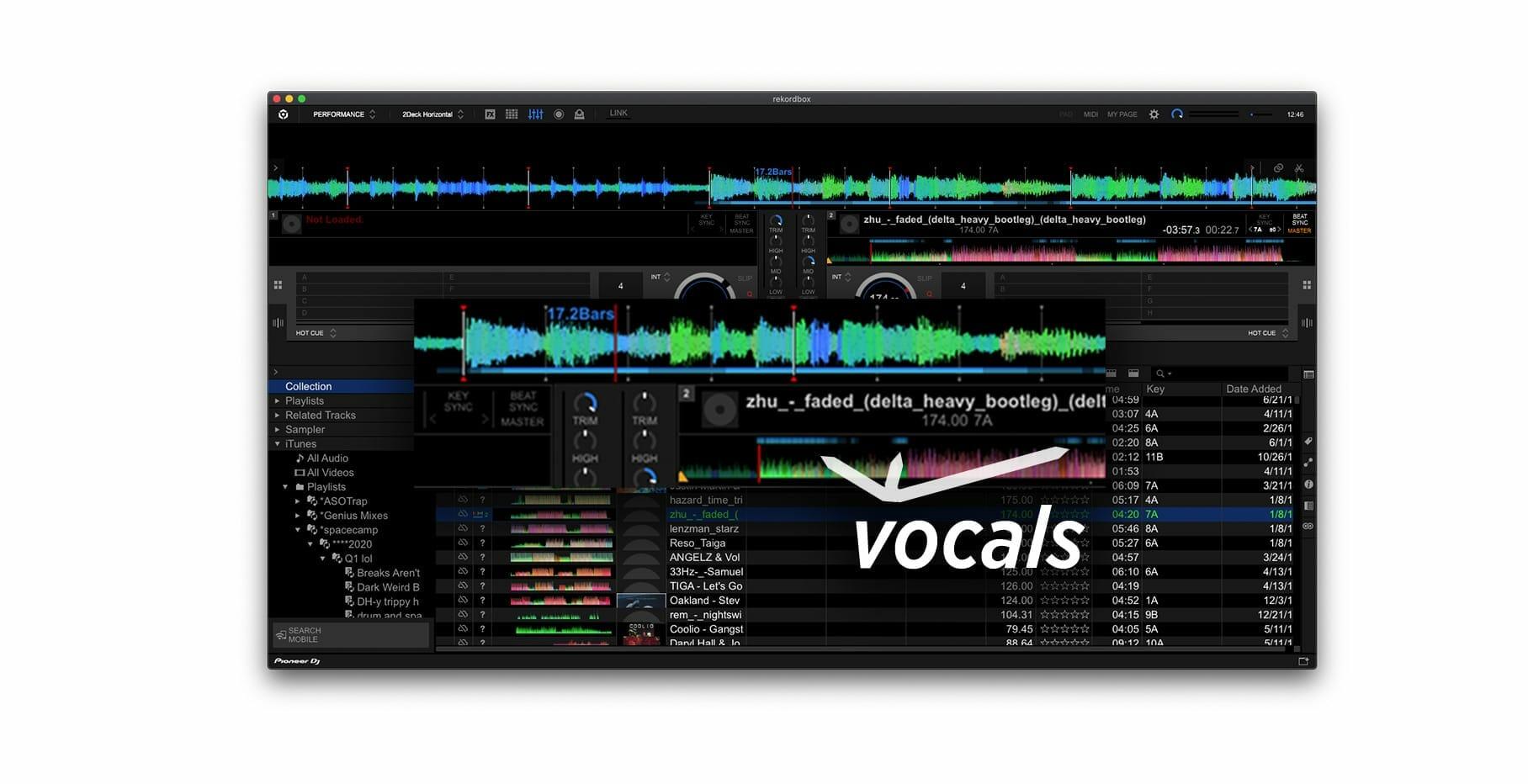 Rekordbox 6.0.1 detecta dónde están las voces en las pistas, agrega Auto Upload, soporte para Beatsource LINK 9