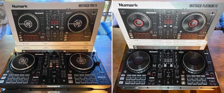 Una mirada de lado a lado en Mixtrack Pro FX (izquierda) y Mixtrack Platinum FX (derecha). Foto: Freddie Fiers