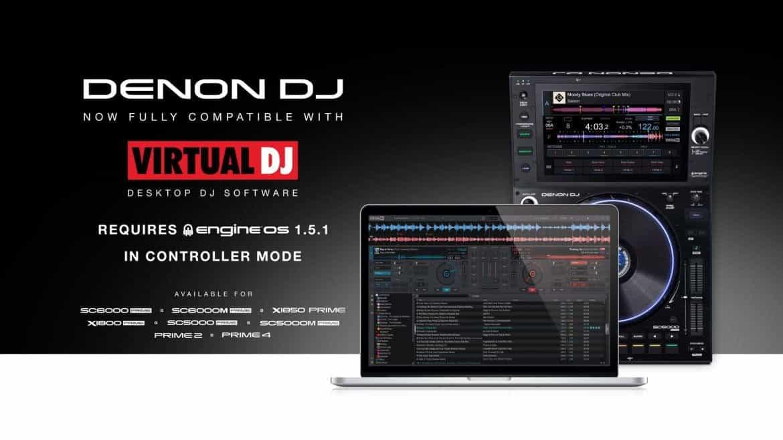 El sistema operativo Denon's Engine ahora se integra con Virtual DJ directamente en el hardware 1