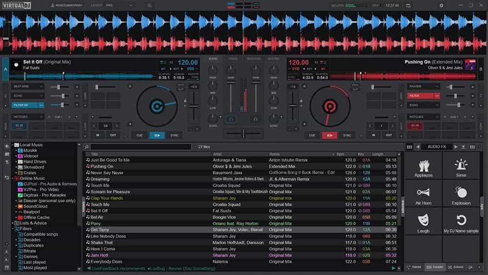 Cómo usar Virtual DJ para mezclar canciones 2