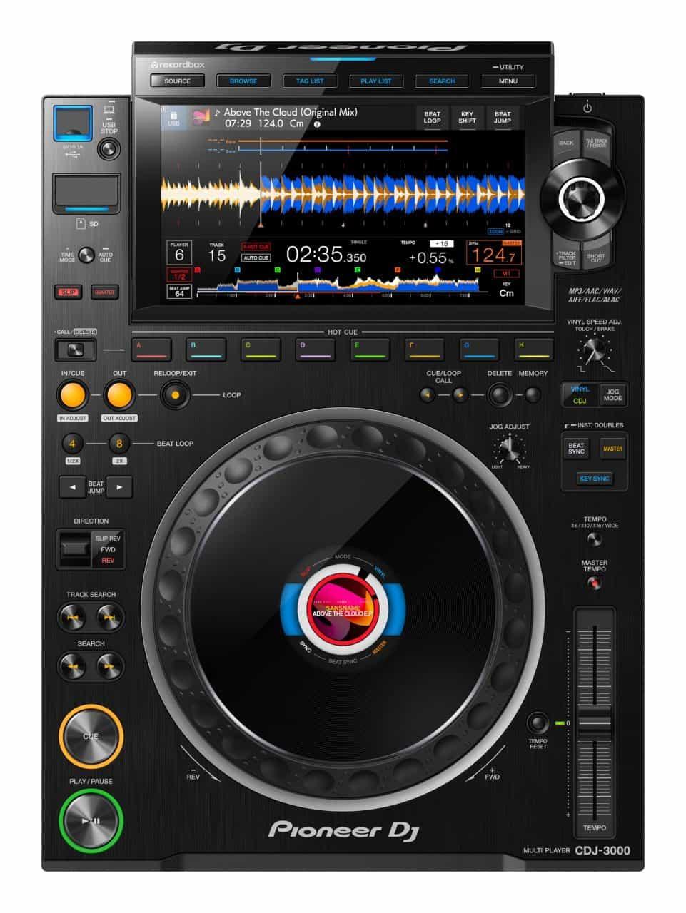 Este es el DJ Pioneer CDJ-3000 2