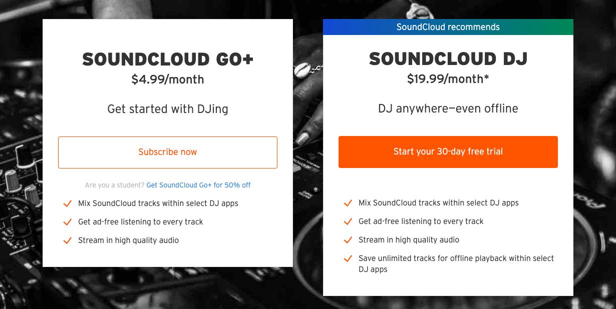 Los DJ ahora pueden transmitir sin conexión desde SoundCloud con una nueva suscripción 2