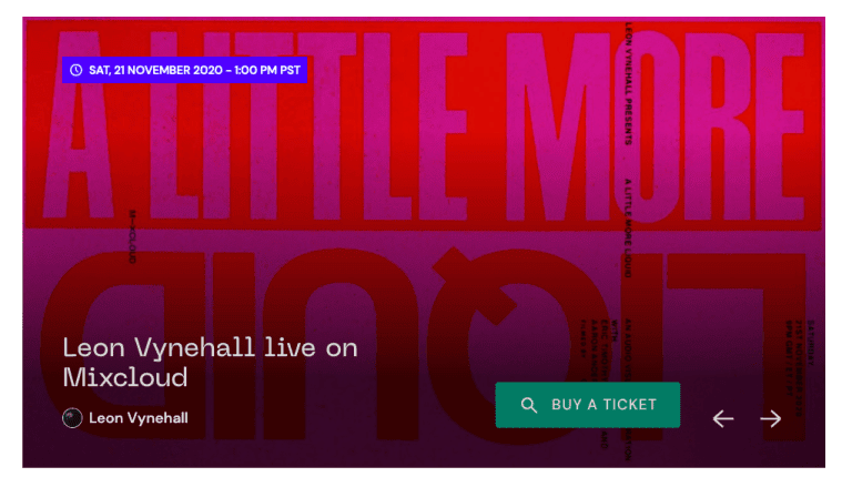 Mixcloud lanza transmisiones en vivo con entradas para artistas a través de Mixcloud LIVE 1