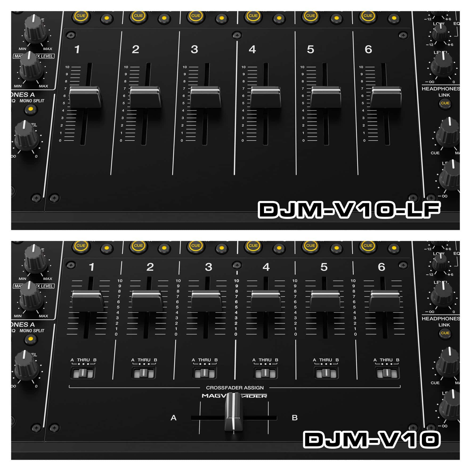 DJM-V10-LF: un fader más largo sin edición de crossfader del mezclador de DJ Pioneer de 6 canales 3