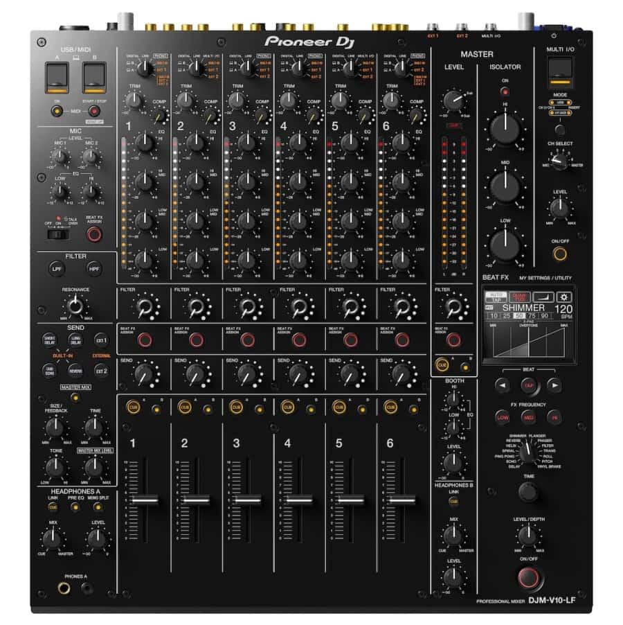 DJM-V10-LF: un fader más largo sin edición de crossfader del mezclador de DJ Pioneer de 6 canales 2