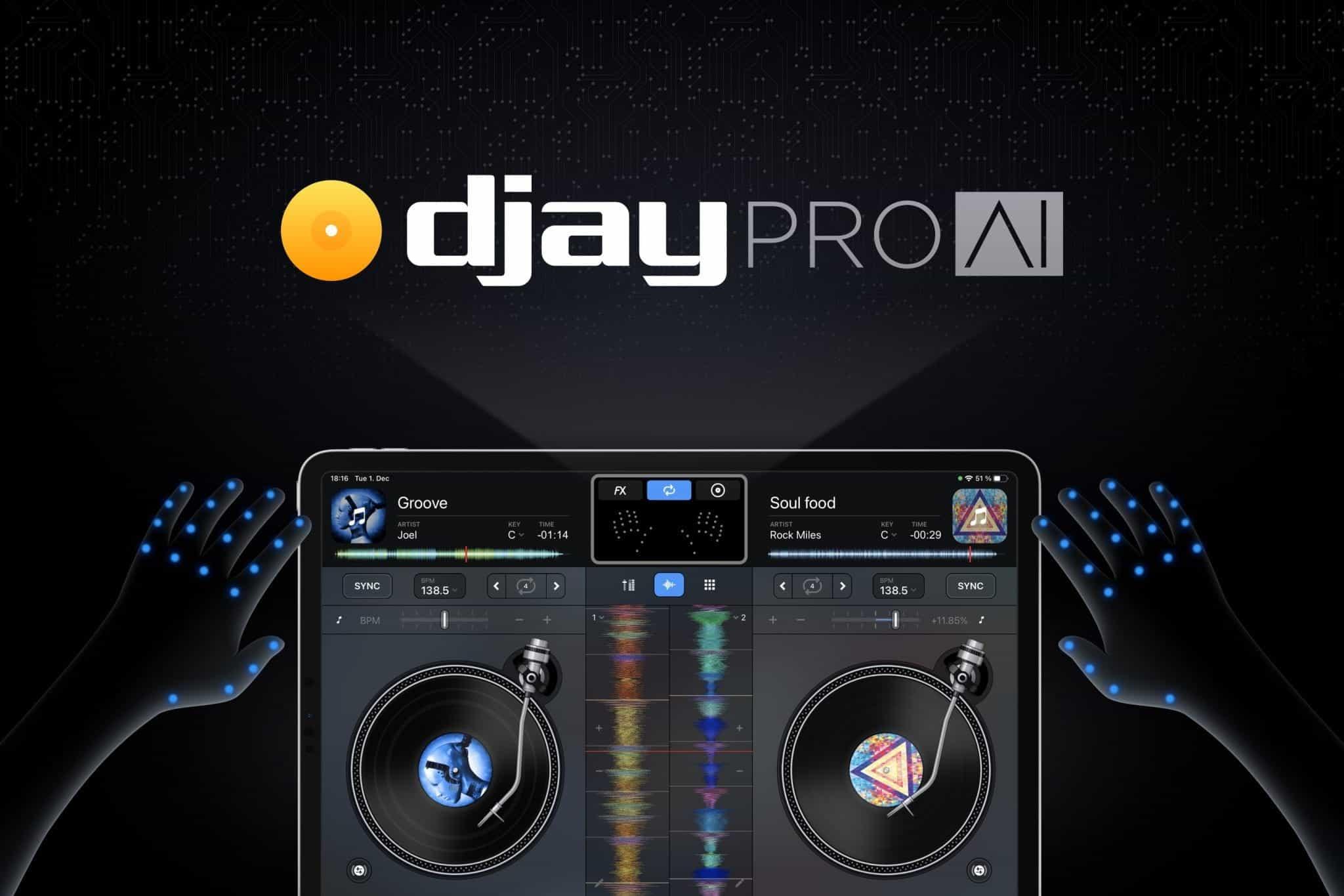 """Algoriddim presenta el control """"Air DJing"""" impulsado por IA 2"""