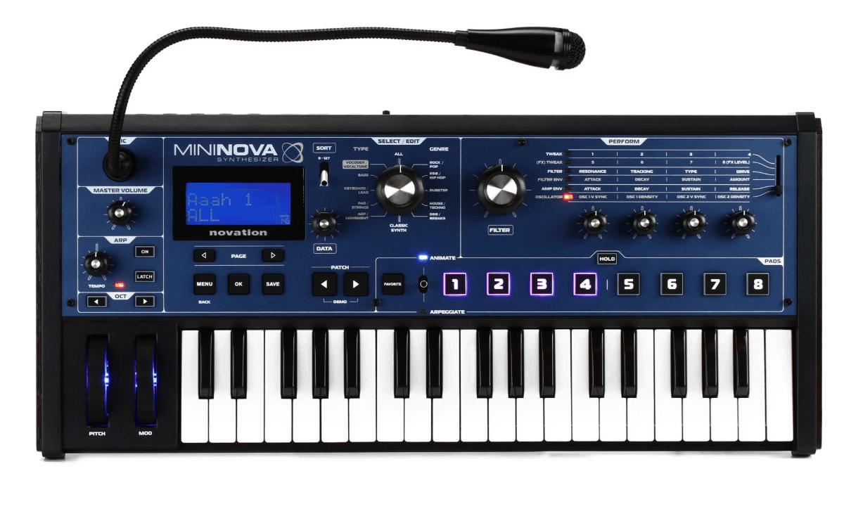 Sintetizador Novation Mininova con revisión Vocoder 1