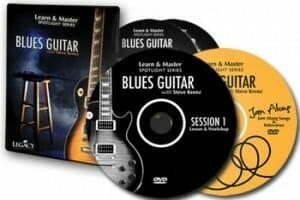 Foco de guitarra de blues