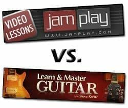 Comparación de JamPlay vs Learn y Master Guitar 2